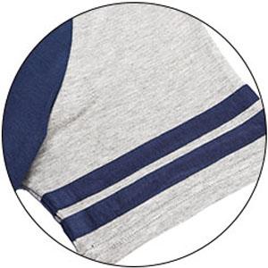 ELOVER Contrast raglan short  sleeves pajama sets tee tops