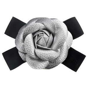 HEKEUOR Camellia Brooch Pin Camellia Flower Pin Leather Brooch Pin for Women