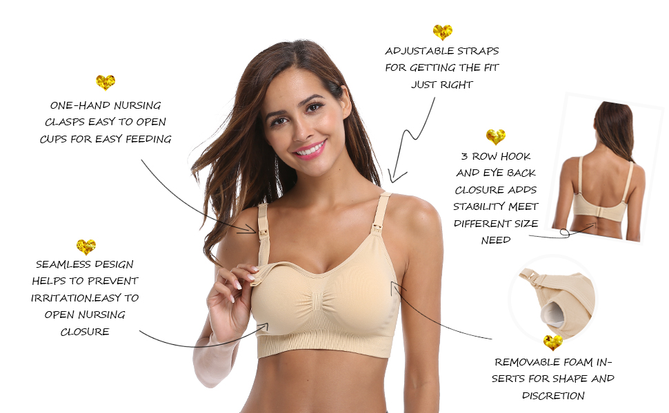 Daisity Nursing Bra for Women