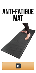 Oversized Anti Fatigue Mat for Kitchen Floor Standing Desk Thick Cushioned Kitchen Floor Mats