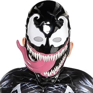 Venom villain hero evil scary action halloween trick or treat costume cosplay dress up black tongue