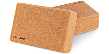 yoga block cork 2 pack