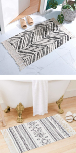 moroccan bathroom rug woven rug runner aztec kitchen rug front hall rug farmhouse runner hallway