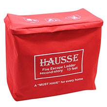 Comes with a red canvas bag for easily stored under a bed or near a window.