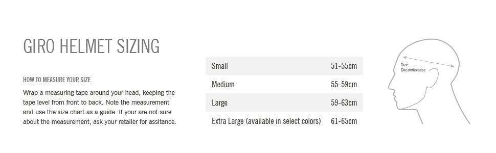 montaro mips size chart