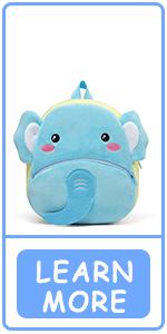 Mochila elefante para niños pequeños