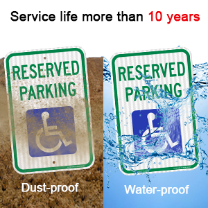 Reserved Parking Sign, Handicap Parking Sign