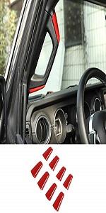 A/B Pillar Grab Handle Cover Trim for 2018-2021 Jeep Wrangler JLU Gladiator JT 4-Door