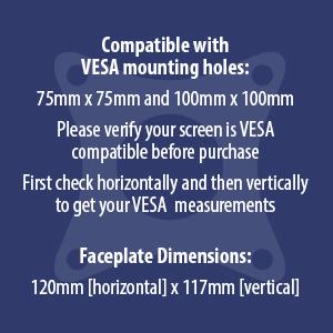 Invision MX450 monitor arm vesa measurements