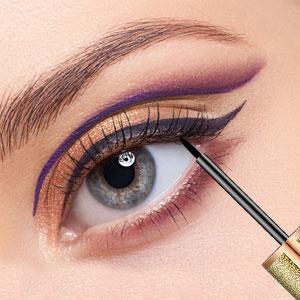 Magnetic Liquid Eyeliner, Gradient color bottle Long-lasting Slender Curling Magnetic Eye Liner