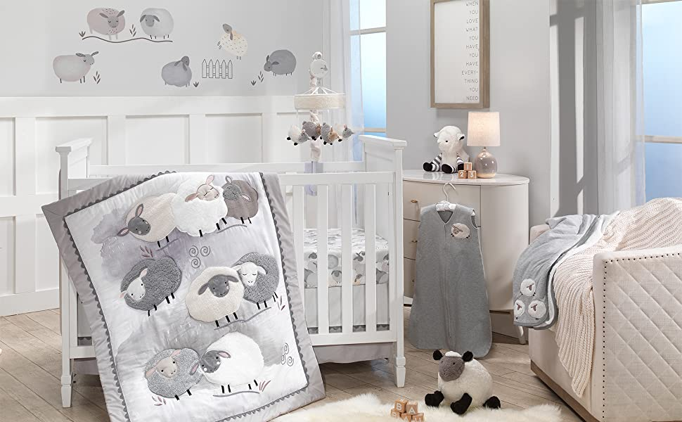Sleepy Sheep Nursery with Mobile