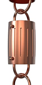 barrel rain chain copper