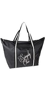 Großer Damen Shopper Freizeittasche für Frauen Farbe schwarz