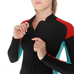 2mm women top wetsuit