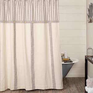 Market Place Gray Shower Curtain