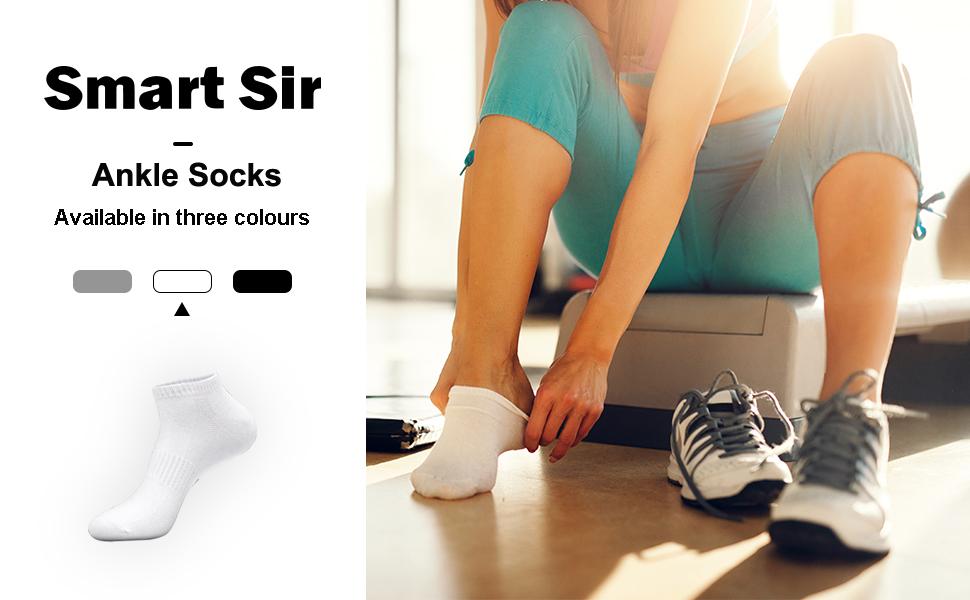 8 Pairs Short Socks Cotton Low Cut Socks Sports Socks with Comfortable Ribbed Cuff Men Women Ankle Socks