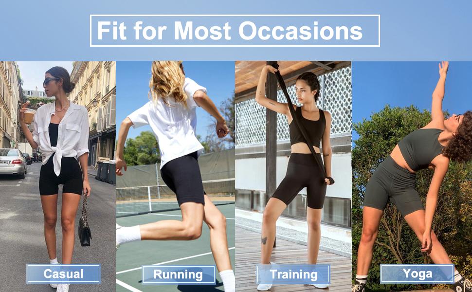 Non See-Through Tummy Control Athletic Shorts