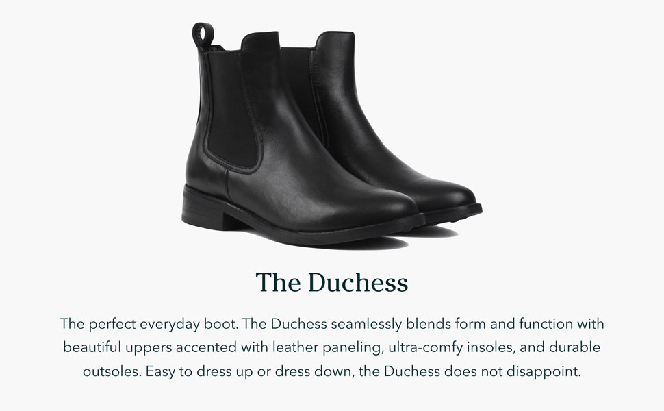 The Duchess is the perfect everyday boot, seamlessly blending form and function.