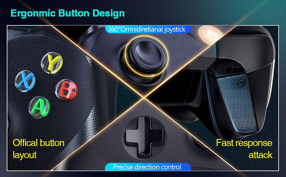 Ergonmic button design