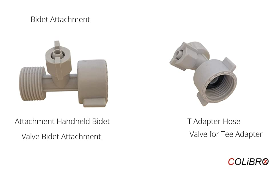 Bidet Attachment T Adapter Hose Attachment Handheld Bidet Valve Bidet Attachment Valve for Tee