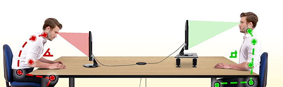before, after, with, without, low, high, height, extendable, adjustable, increase, ergonomic, stand
