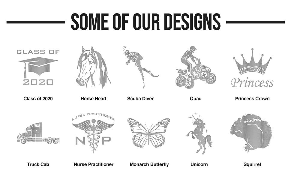 laser engraved designs