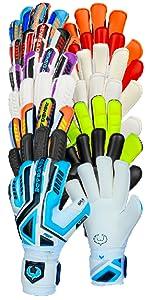 Renegade GK Fury Series of Goalkeeper Gloves - Includes Sub-Z Volt Nightfall UV Inferno Siege
