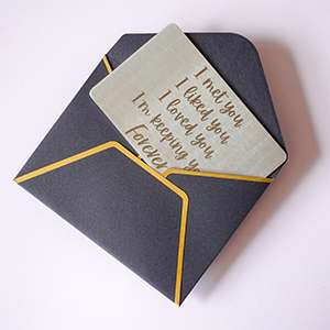 Packaged with free gift envelope