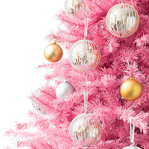 Pretty in Pink artificial Christmas Tree