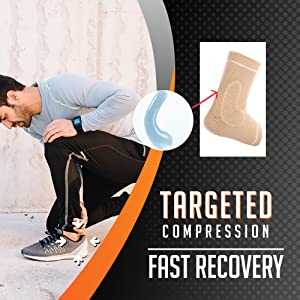 silicone pad compression ankle brace