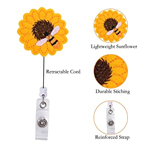 Sunamp;Bee Badge holder