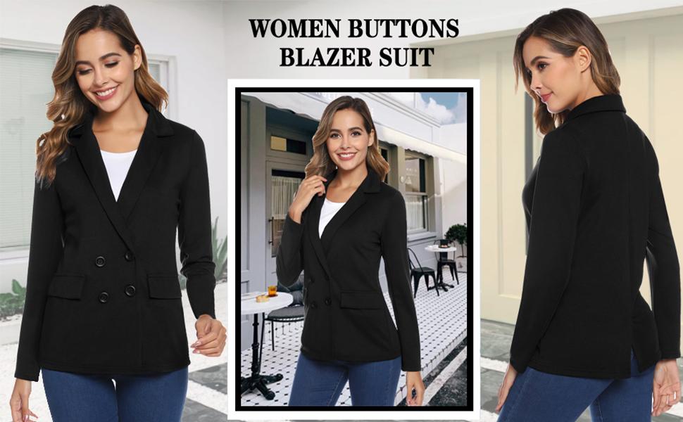 Talla Grande Casual Blazers Abrigo Vestir Hawiton Traje de Chaqueta Mujer