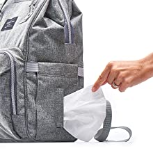 Convenient pocket for napkin