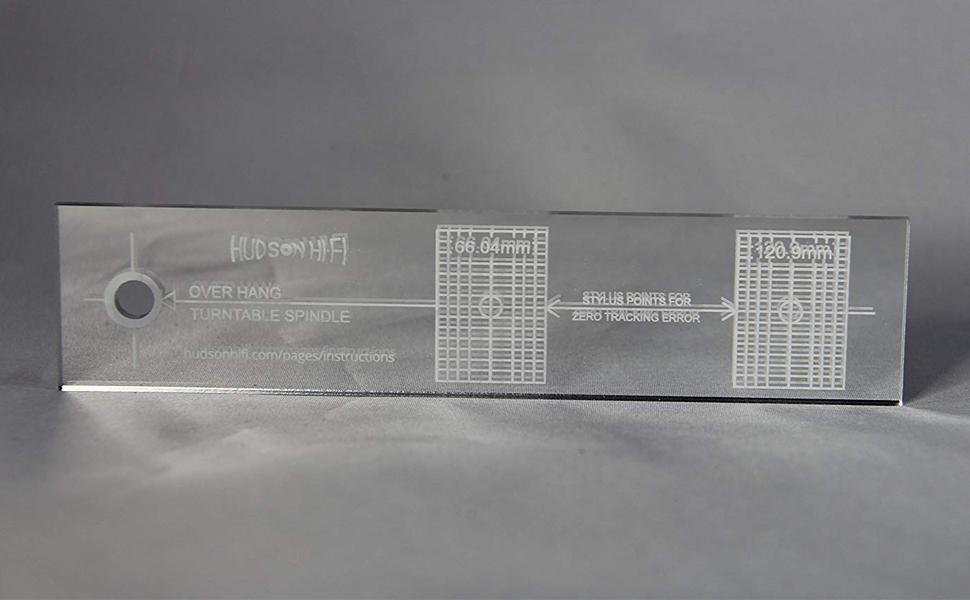 Turntable Phonograph LP Phono Cartridge Stylus Alignment Protractor HighContrast