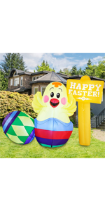 7 FT Long Happy Easter Sign