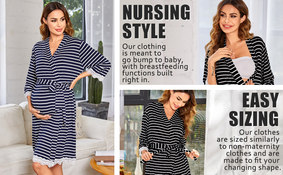 nursing labor and delivery robe for hospital