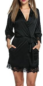 Pijama para mujer con forro polar interior c/álido manga larga Balancora tallas S-XXL para invierno