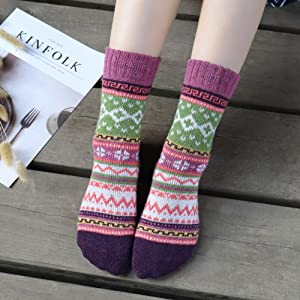 handmade knitted socks woman socks pink socks mixed color socks wool socks autumn socks knitted socks warm socks ready to ship