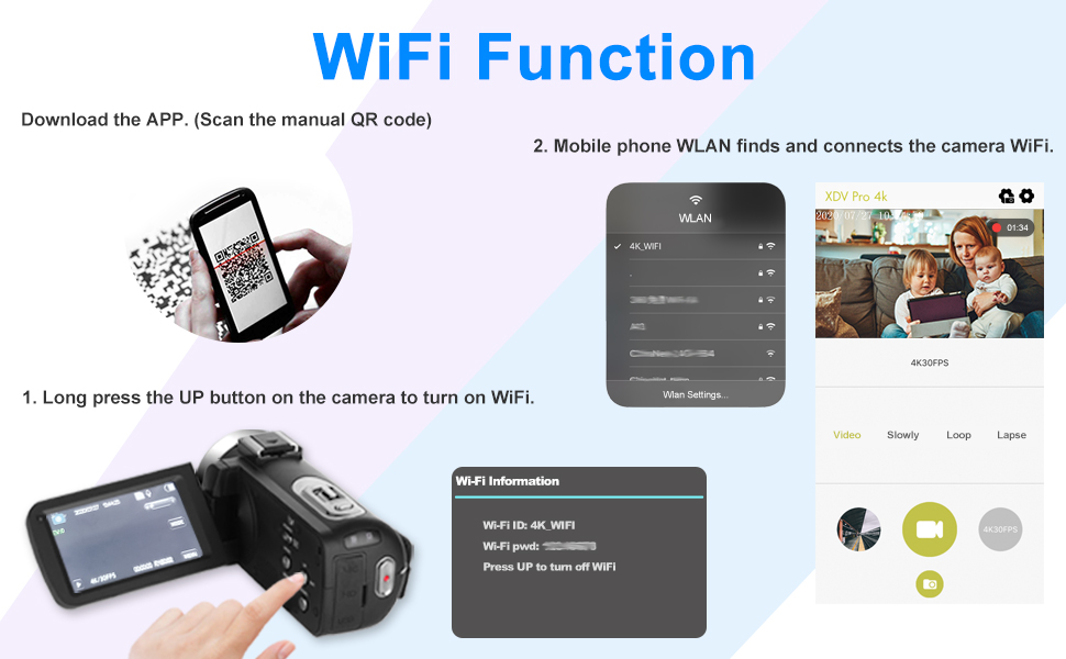 How to Use the Camera WiFi
