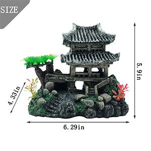 Realistic Details Castles Ornament Size