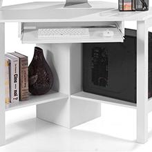 Wei/ß DREAMADE Eckschreibtisch Laptoptisch Holz Schreibtisch mit 4 St/änder Farbewahl Beistelltisch Computertisch f/ür Zuhause