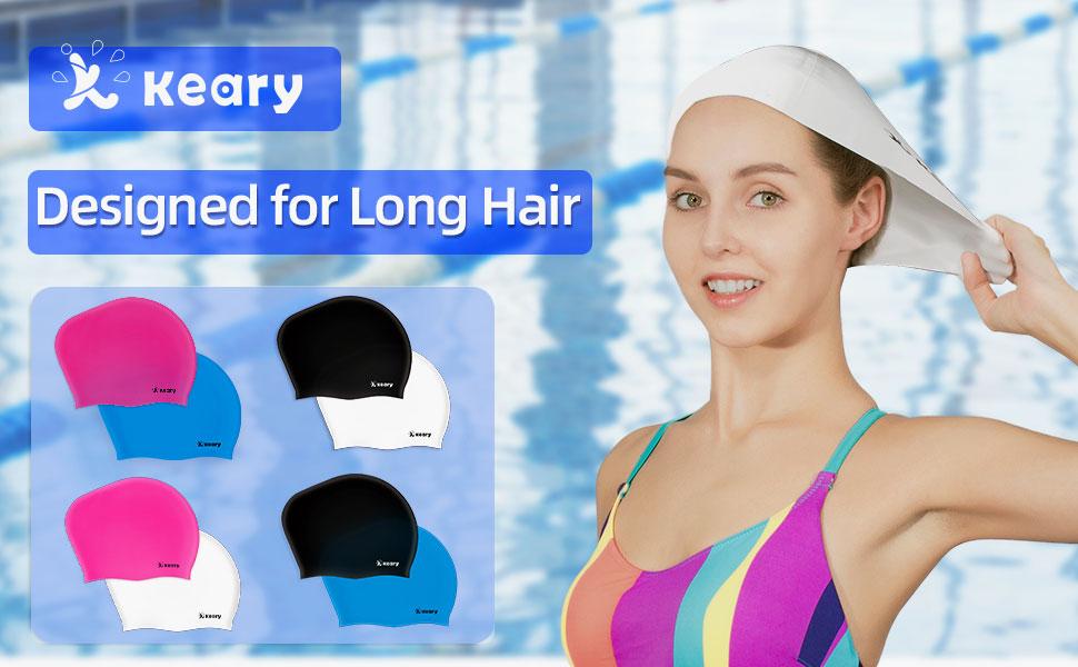 Swimming caps for women long hair