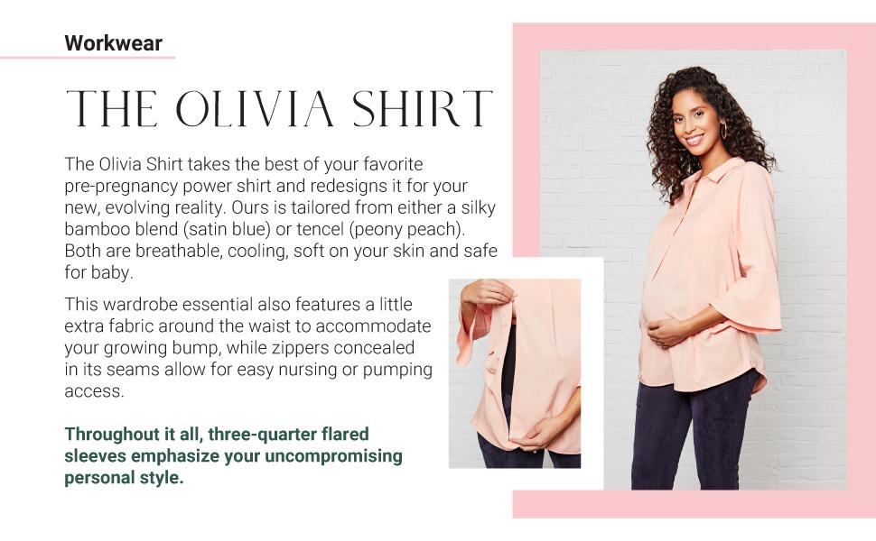 emilia george maternity wear post partum dress sustainable clothing designer shirt