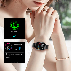 smart watch  Anmino Smart Watch with Heart Rate Monitor BP Fitness Tracker IP68 Waterproof Activity Tracker Full Touch Screen Smartwatch Sleep Monitor Calorie Step Counter SMS Call Notification(Black Steel) 7689382d 2cd0 44eb bf37 aa546d32282c