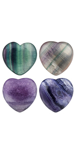 Fluorite Heart Love Crystal