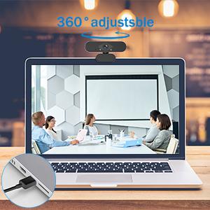 USB Plug and Play &360 ° Rotation