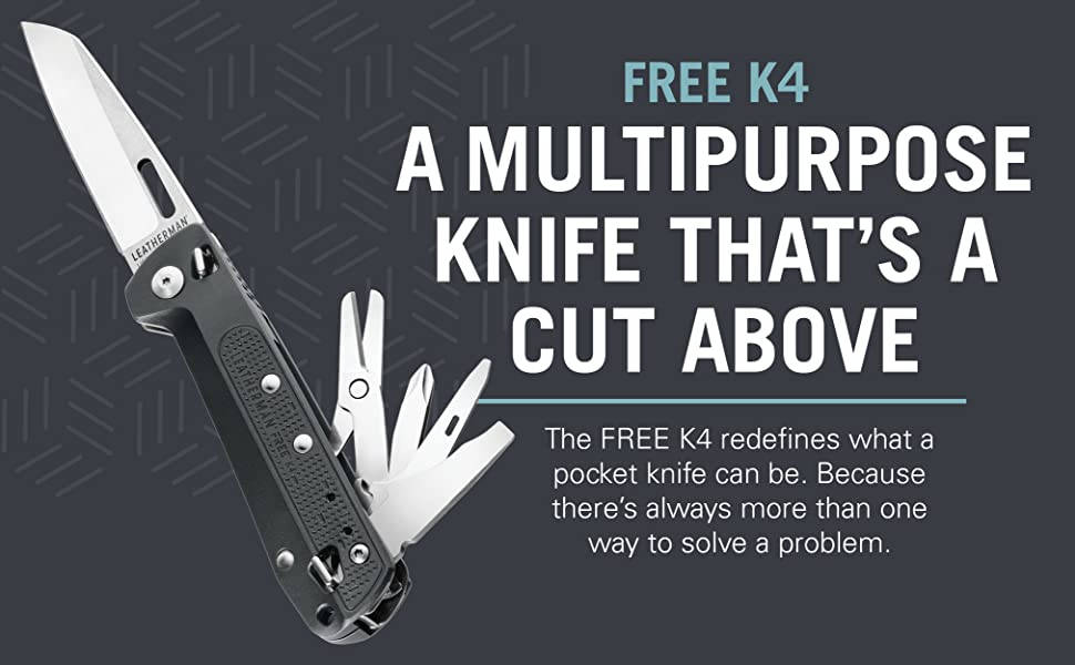 Leatherman Free K4 Edc Pocket Knife And Multitool With Magnetic Locking Aluminum Handles And Pocket Clip Built In The Usa Gray K4 Amazon Com