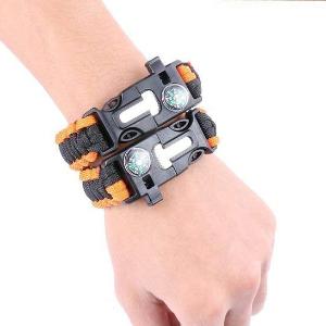 GIVBRO Bracelet de Survie Flint Fire Starter Grattoir Sifflet Gear Kits
