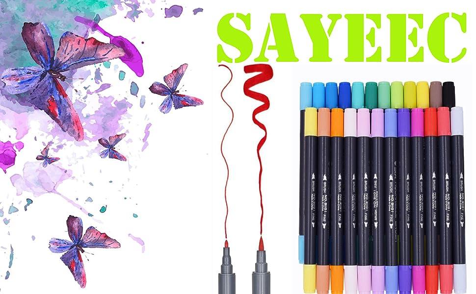 dual tip brush pen
