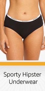 sporty hipster underwear